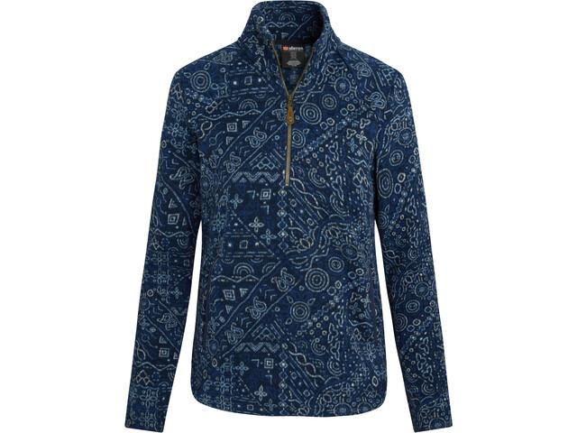 Sherpa Namla II Camiseta Cremallera Mujer, azul